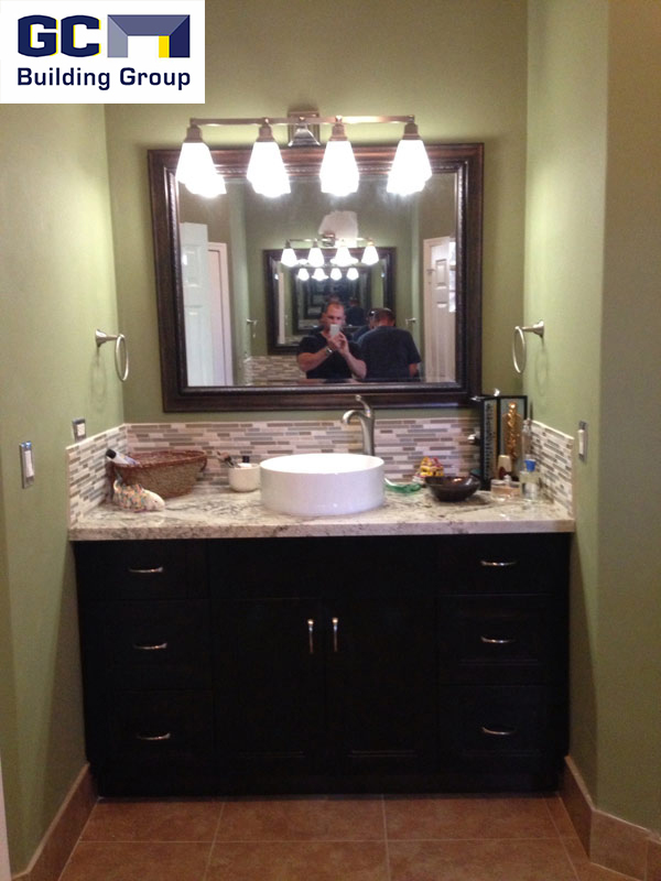 bath addition raised sink in vanity