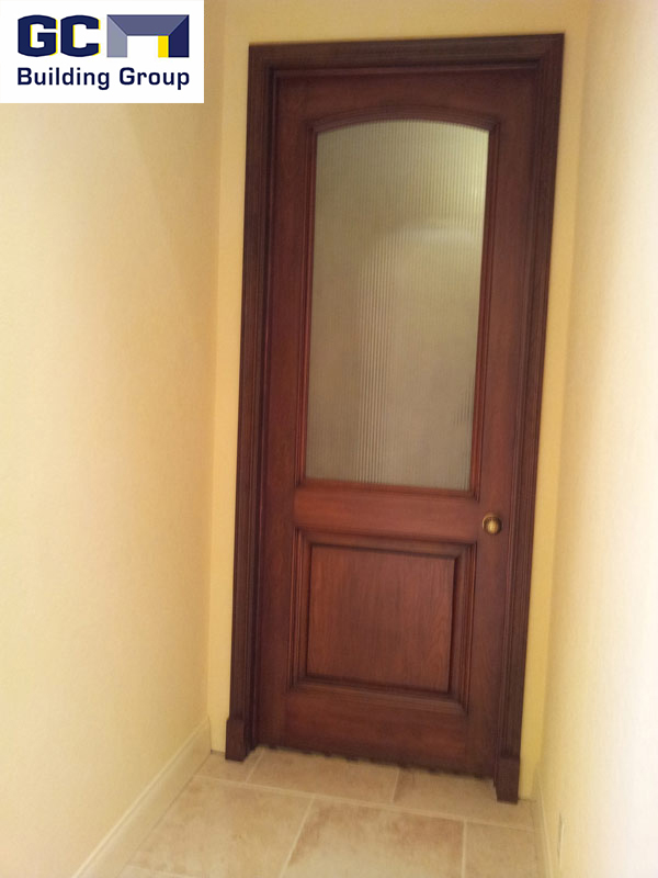 custom built interior wood door