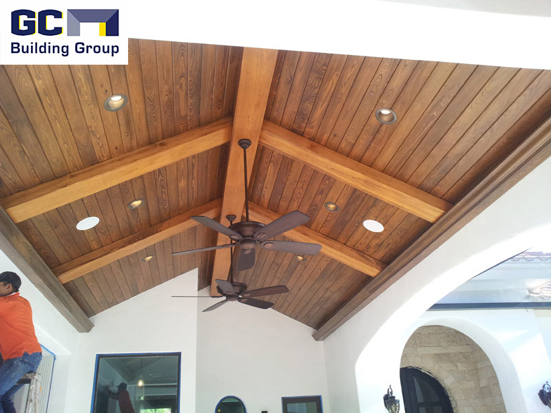 custom cathedral ceiling wood project