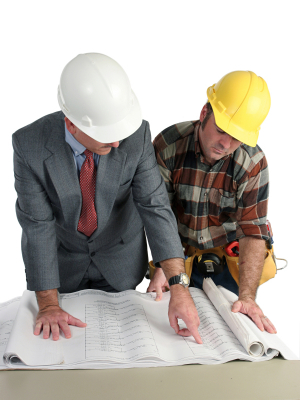 construction manager with general contractor photo