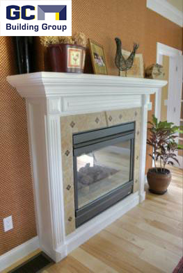 fireplace addition to family room remodel