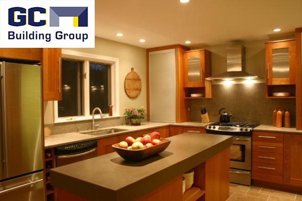 A Kitchen remodeled by Green Building Tech Corp